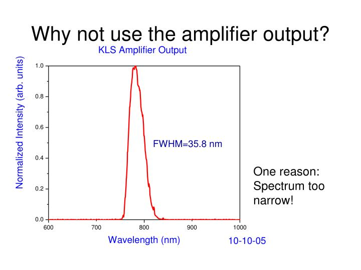 Why not use the amplifier output?