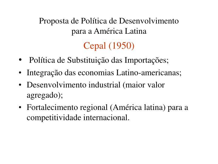 Proposta de Política de Desenvolvimento