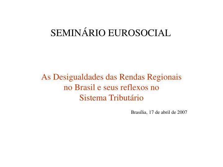 SEMINÁRIO EUROSOCIAL