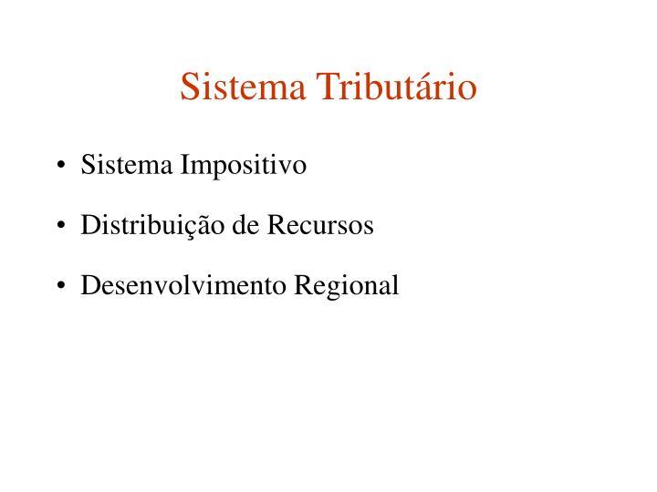 Sistema Tributário