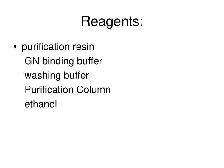 Reagents: