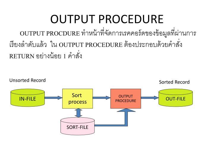 OUTPUT PROCEDURE