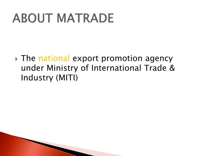 About matrade
