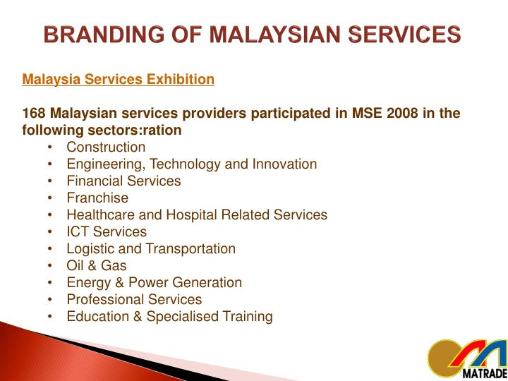 BRANDING OF MALAYSIAN SERVICES