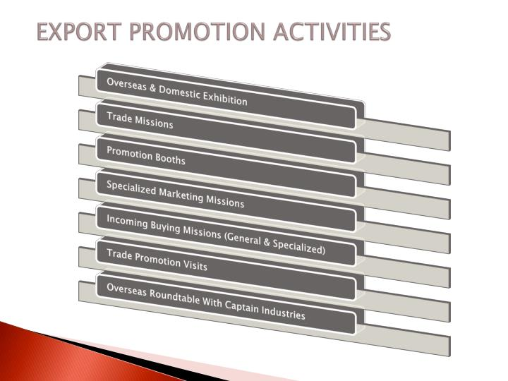 EXPORT PROMOTION ACTIVITIES