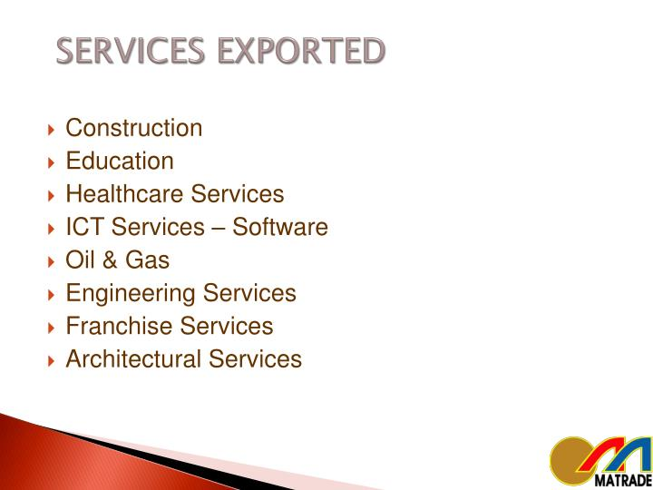 SERVICES EXPORTED