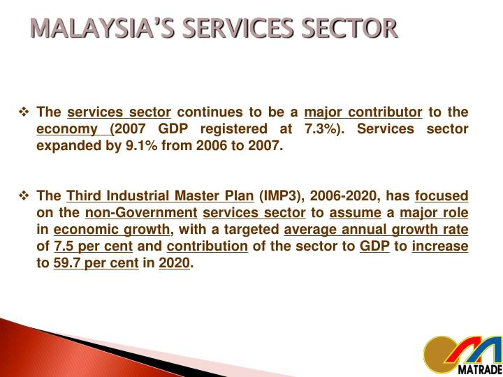 MALAYSIA'S SERVICES SECTOR