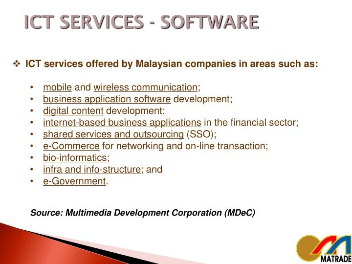 ICT SERVICES - SOFTWARE