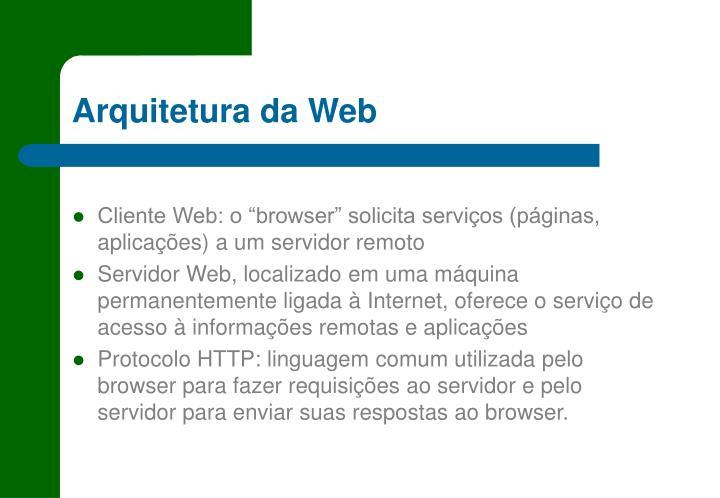 Arquitetura da Web