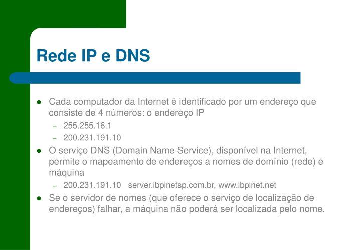 Rede IP e DNS