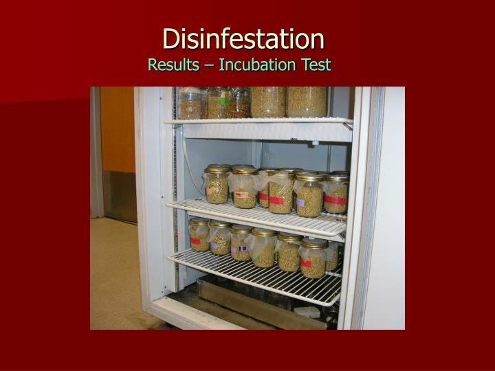 Disinfestation