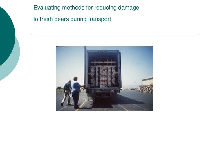 Evaluating methods for reducing damage