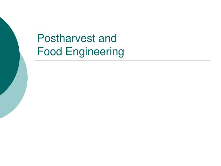 Postharvest and