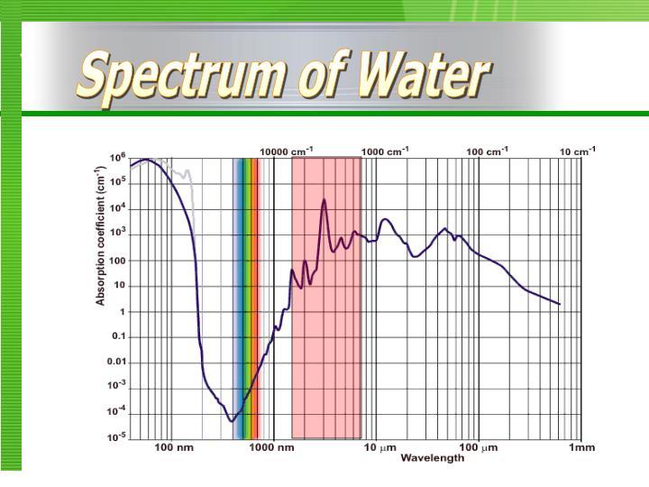 Spectrum of Water