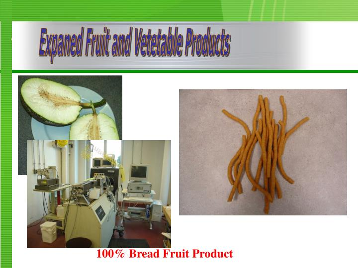 Expaned Fruit and Vetetable Products