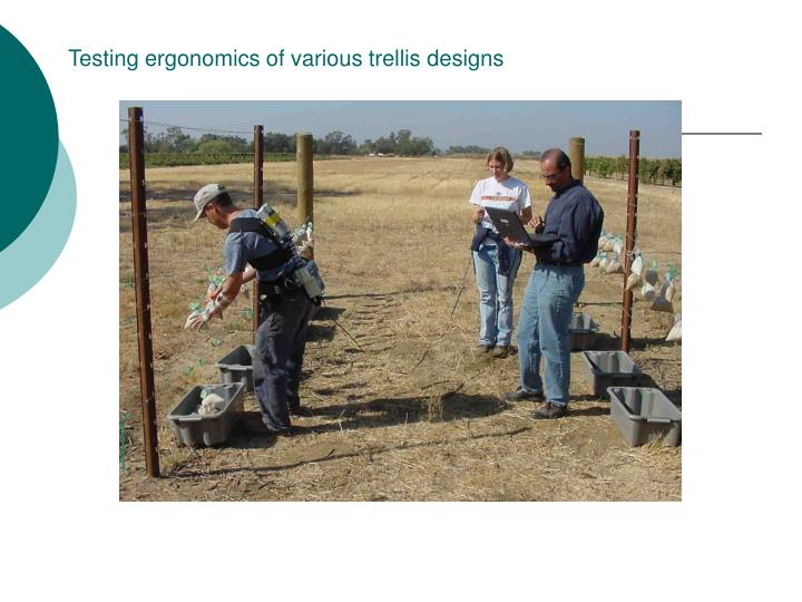 Testing ergonomics of various trellis designs