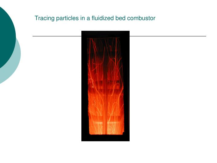 Tracing particles in a fluidized bed combustor