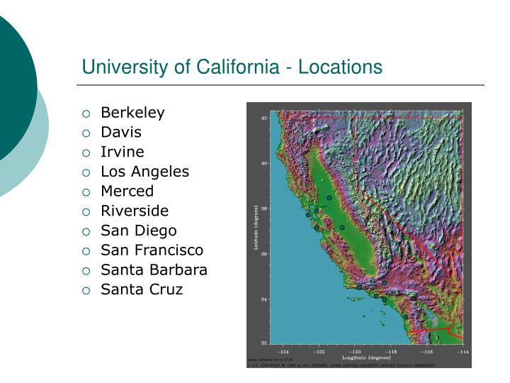 University of California - Locations