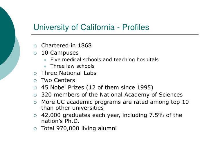 University of California - Profiles