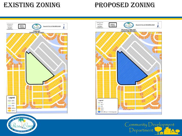 Existing ZONING		PROPOSED ZONING