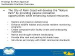 findings for pud approval sustainable practices overview1