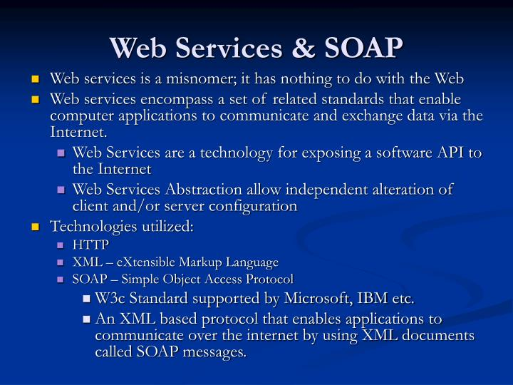 Web services soap