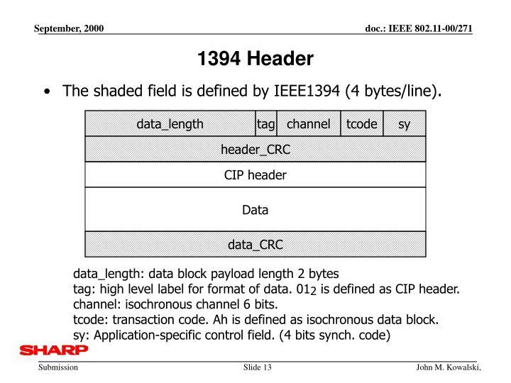 1394 Header