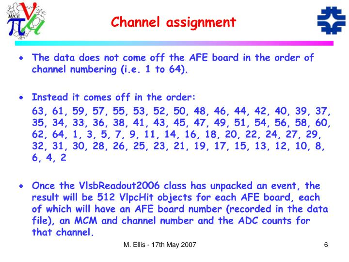 Channel assignment