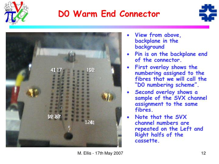 D0 Warm End Connector