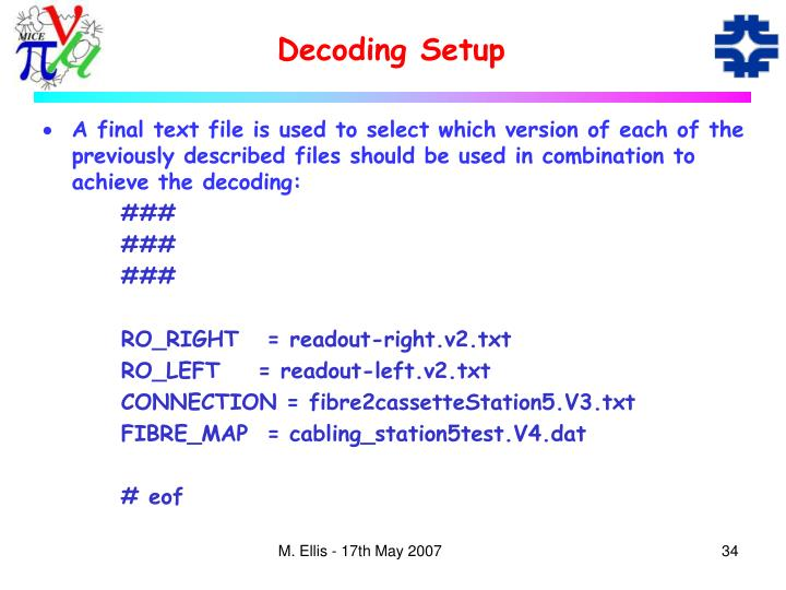 Decoding Setup