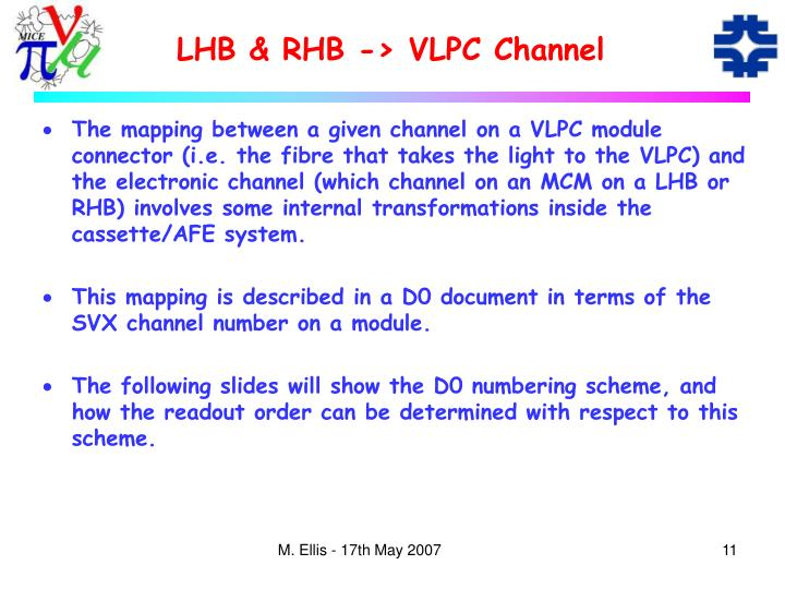 LHB & RHB -> VLPC Channel