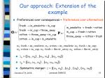 our approach extension of the example