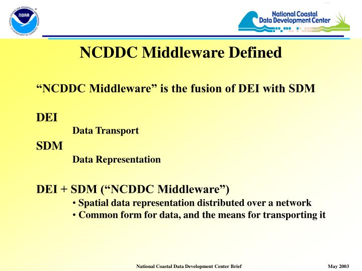 NCDDC Middleware Defined
