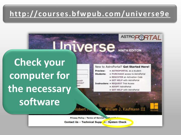 http://courses.bfwpub.com/universe9e