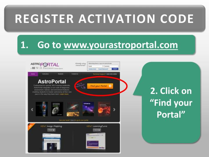 REGISTER ACTIVATION CODE
