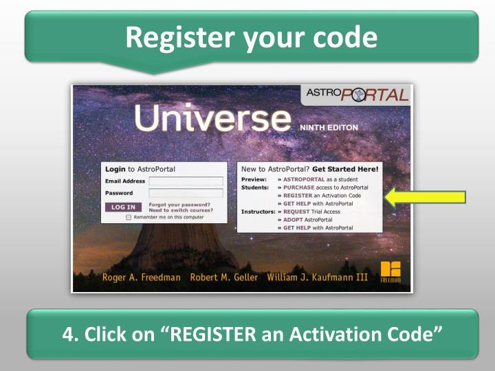 Register your code