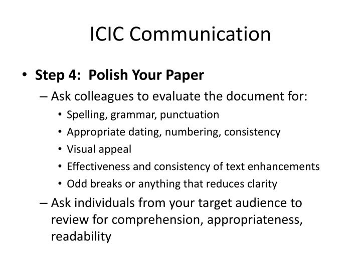 ICIC Communication
