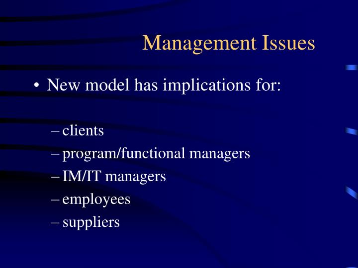 Management Issues