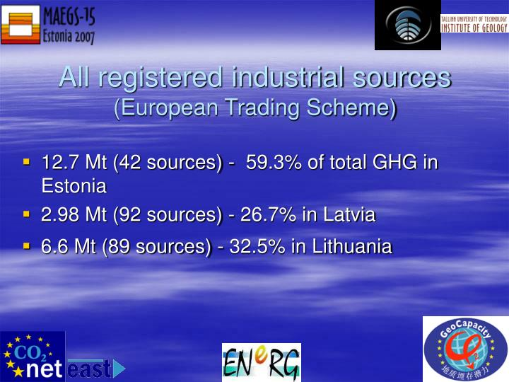 All registered industrial sources