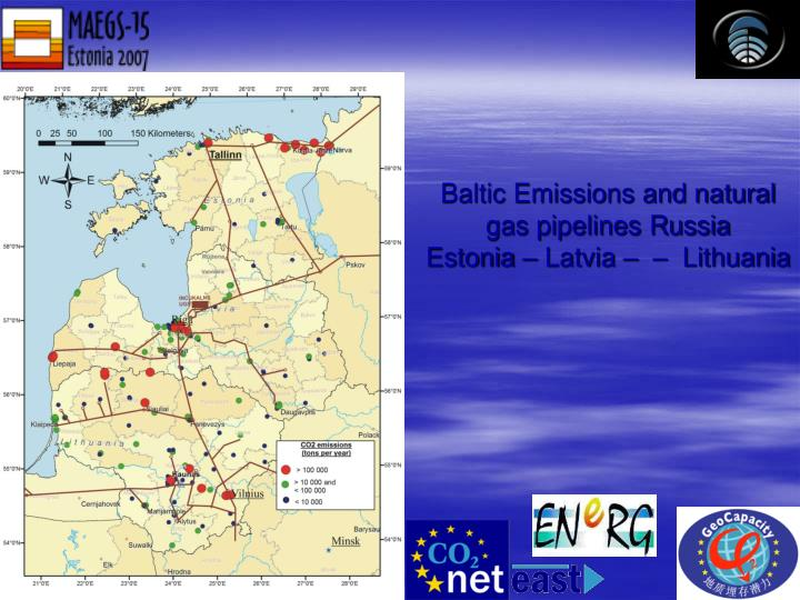 Baltic Emissions and natural gas pipelines Russia