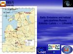 baltic emissions and natural gas pipelines russia estonia latvia lithuania
