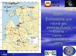 baltic emissions and natural gas pipelines russia estonia latvia lithuania wp1