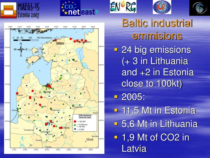 Baltic industrial emmisions