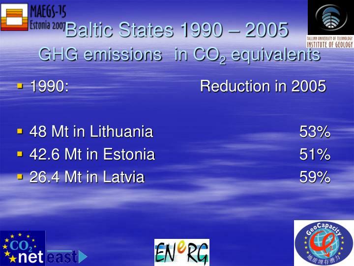 Baltic States 1990 – 2005