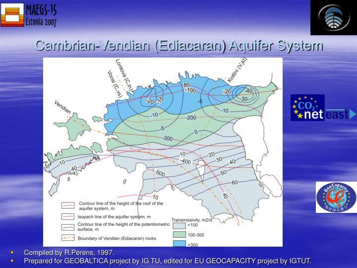 Cambrian-Vendian (Ediacaran) Aquifer System