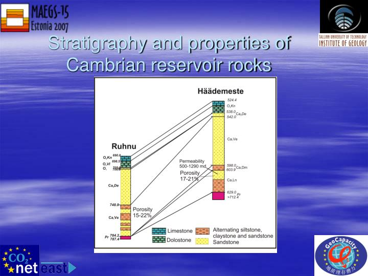 Stratigraphy and properties of Cambrian reservoir rocks