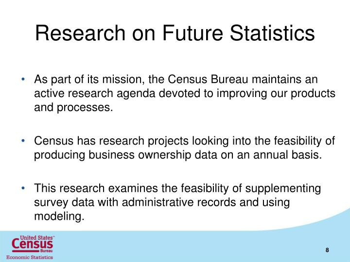 Research on Future Statistics
