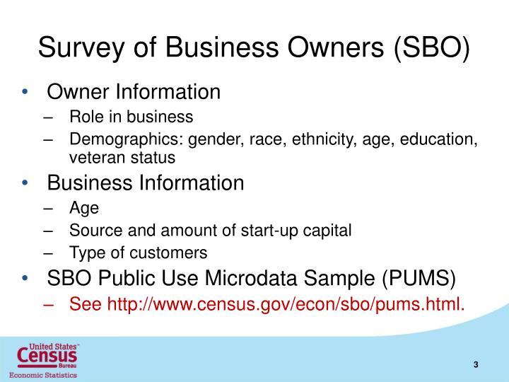 Survey of Business Owners (SBO)
