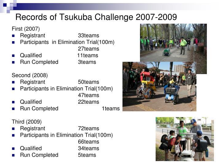 Records of Tsukuba Challenge 2007-2009