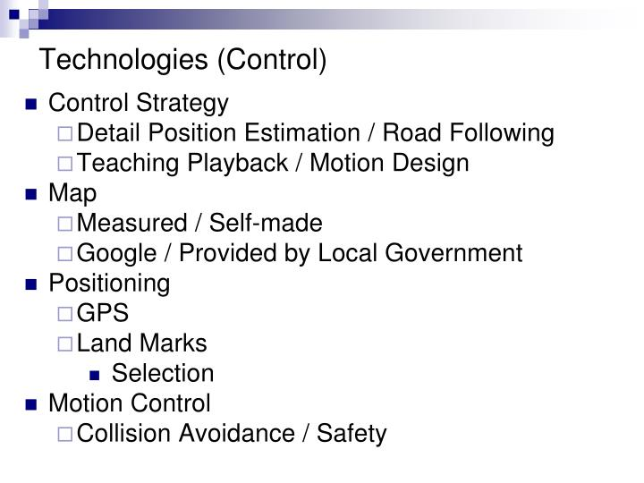 Technologies (Control)